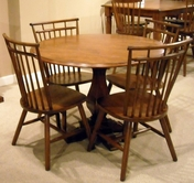Liberty 38-P4242-T4242-C4000S Drop Leaf Pedestal Dinning Set