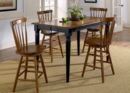 Liberty 48-T5454-B1730 Furniture Gathering Table Set ~ Black (48-T5454)