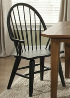 Liberty 482-C1000A Hearthstone Windsor Back Arm Chair - Black