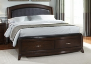 Liberty 505-BR24R-F-H Avalon King Platform Leather Bed