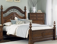 Liberty 547-BR03-04-73 Laurelwood King Poster Bed