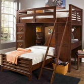 Liberty 628-BR07G-R-S-U-LOFT-08D-08C-11f-11cb-11r Chelsea Square Youth Twin Loft Bed Unit