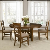 Liberty 64-P4866-T4866-4xC3001S Bistro Oval Pedestal Table dining set