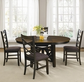 Liberty 74-P4866-T4866-4X74-C3001S Bistro II Oval Pedestal Table Dining set