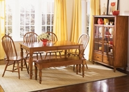 Liberty 76-T3876-4XC1000S Low Country Bronze Rectangular Leg Table dining set