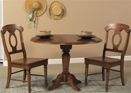 Liberty 76-T4242-P4242-4XC5500S Low Country Bronze Drop Leaf Pedestal Table Dining set