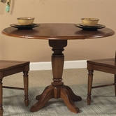 Liberty 76-T4242-P4242 Low Country Bronze Drop Leaf Pedestal Table