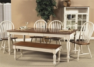 Liberty 79-T3876-4xC1000S Low Country Sand Rectangular Leg Table dining set