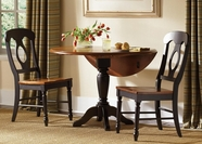 Liberty 80-P4242-T4242-4xC5500S Low Country Black Drop Leaf Pedestal Table set