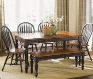 Liberty 80-T3876-4xC1000S Low Country Black Rectangular Leg Table dining set
