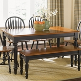 Liberty 80-T3876 Low Country Black Rectangular Leg Table