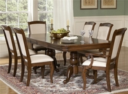 Liberty 908-P4496-T4496-4Xc3150 Louis Philippe Double Pedestal Table Dining Set