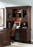 Liberty Furniture 101-HO120-131 Louis Jr Executive Credenza with Hutch (101-HO120B)