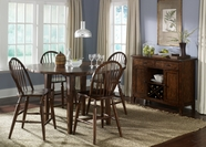 Liberty Furniture 121-GT6060-B100024 Cabin Fever Drop Leaf Pub Table Set (121-GT6060)