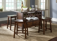 Liberty Furniture 121-IT3660-B0000024 Cabin Fever Center Island Table Set (121-IT3660B)