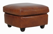 Luke Leather ANDREW-O-2511-HAVANA ANDREW-O OTTOMAN in 2511 HAVANA Color