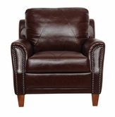 Luke Leather AUSTIN-C-153-SIENNA AUSTIN-C CHAIR in 153 SIENNA Color