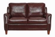 Luke Leather AUSTIN-L-153-SIENNA AUSTIN-L LOVESEAT in 153 SIENNA Color