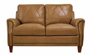 Luke Leather AUSTIN-L-2552-WHEAT AUSTIN-L LOVESEAT in 2552 WHEAT Color