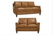 Luke Leather AUSTIN-S 2552 Wheat Sofa and Loveseat, Chair