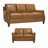 Luke Leather AUSTIN-S-L-2552-WHEAT Living Room Set