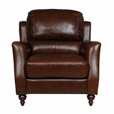 Luke Leather BRADFORD-C-2547-CHESTNUT BRADFORD-C CHAIR in 2547 CHESTNUT Color
