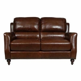 Luke Leather BRADFORD-L-2547-CHESTNUT BRADFORD-L LOVESEAT in 2547 CHESTNUT Color