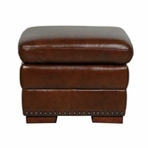 Luke Leather BRADFORD-O-2547-CHESTNUT BRADFORD-O OTTOMAN in 2547 CHESTNUT Color