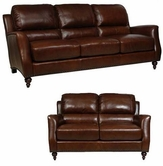 Luke Leather BRADFORD-S-L-2547-CHESTNUT Living Room Set