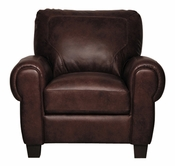 Luke Leather JACKSON-C-300-CHOCOLATE JACKSON-C CHAIR in 300 CHOCOLATE Color