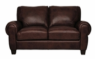 Luke Leather JACKSON-L-300-CHOCOLATE JACKSON-L LOVESEAT in 300 CHOCOLATE Color