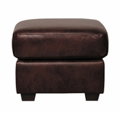 Luke Leather JACKSON-O-300-CHOCOLATE JACKSON-O OTTOMAN in 300 CHOCOLATE Color