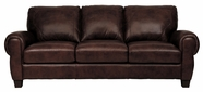 Luke Leather JACKSON-S-300-CHOCOLATE JACKSON-S SOFA in 300 CHOCOLATE Color
