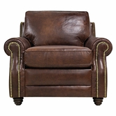 Luke Leather LEVI-C-2511-HAVANA LEVI-C CHAIR in 2511 HAVANA Color
