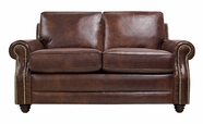 Luke Leather LEVI-L-2511-HAVANA LEVI-L LOVESEAT in 2511 HAVANA Color