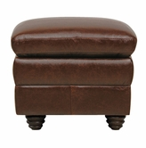Luke Leather LEVI-O-2511-HAVANA LEVI-O OTTOMAN in 2511 HAVANA Color