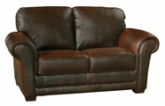 Luke Leather MARK-L-150-WHISKEY MARK-L LOVESEAT in 150 WHISKEY Color