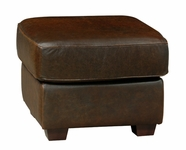 Luke Leather MARK-O-150-WHISKEY MARK-O OTTOMAN in 150 WHISKEY Color