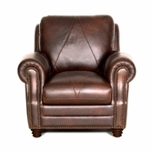 Luke Leather SOLOMON-C-2520-CHOCA SOLOMON-C CHAIR in 2520 CHOCA Color
