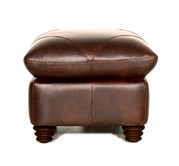 Luke Leather SOLOMON-O-2520-CHOCA SOLOMON-O OTTOMAN in 2520 CHOCA Color