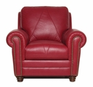 Luke Leather WESTON-C-2525-CHERRY WESTON-C CHAIR in 2525 CHERRY Color