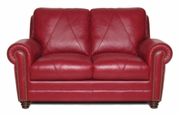 Luke Leather WESTON-L-2525-CHERRY WESTON-L LOVESEAT in 2525 CHERRY Color