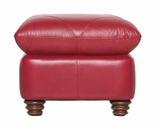 Luke Leather WESTON-O-2525-CHERRY WESTON-O OTTOMAN in 2525 CHERRY Color