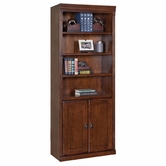Martin Furniture HO3072D Huntington Oxford Bookcase with lower doors