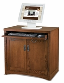 Martin Furniture MP304 Mission Pasadena Computer Base with convertible keyboard/pencil drawer