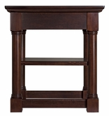Martin Furniture MV55 Mount View Office Corner MVoup Table with Bookshelf