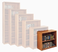 Martin Furniture OB3629 Contemporary Bookcase with 2 shelves, 1 adjustable and 1 fixed