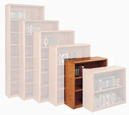 Martin Furniture OB3636 Contemporary Bookcase with 3 shelves, 2 adjustable and 1 fixed