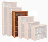 Martin Furniture OB3660 Contemporary Bookcase with 5 shelves, 3 adjustable and 2 fixed
