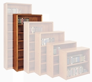 Martin Ob3670 Contemporary Bookcase With 6 Shelves, 4 Adjustable And 2 Fixed